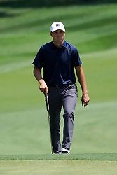 August 10, 2018 - St. Louis, Missouri, United States - Jordan Spieth approaches the 9th green during the second round of the 100th PGA Championship at Bellerive Country Club. (Credit Image: © Debby Wong via ZUMA Wire)