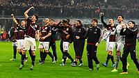Esultanza fine gara giocatori Milan<br /> Milano 31-01-2016 Stadio Giuseppe Meazza - Football Calcio Serie A Milan - Inter. Foto Giuseppe Celeste / Insidefoto