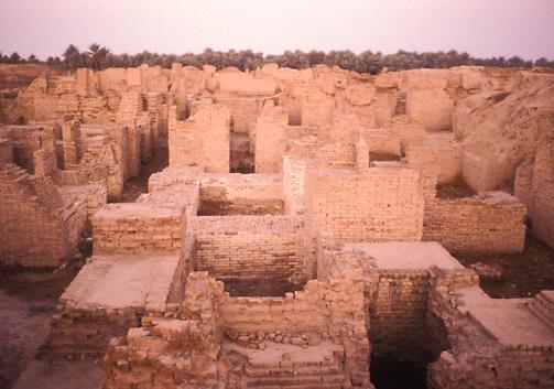 Sumerian archaeological ruins of Babylon in Iraq