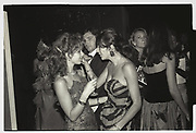 JULIA VERDIN, GHISLAINE MAXWELL, BOISDALE BALL, LONDON DUNGEONS, 1986
