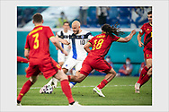Teemu Pukki. Finland - Belgium. Euro 2020. Saint Petersburg, Russia. June 21, 2021.