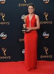 Tatiana Maslany  im Press Room bei der Verleihung der 68. Primetime Emmy Awards in Los Angeles / 180916<br /> <br /> *** 68th Primetime Emmy Awards in Los Angeles, California on September 18th, 2016***