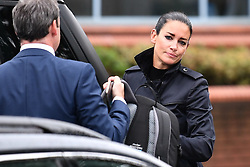 © Licensed to London News Pictures. 04/09/2017. Slough, UK. Sky Sports presenter KIRSTY GALLACHER arrives at Slough Magistrates Court in Berkshire, where she faces a drink-driving offence. Sky Sports News presenter Kirsty Gallacher has been charged with drink driving after a night out in Eton, Berkshire, on August 12, 2017. Photo credit: Ben Cawthra/LNP