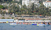 San Remo, ITALY,  Qualification Races, men's quadruple sculls M4X+, approaching the first bouy.  2008 FISA Coastal World Championships. Friday 17/10/2008. [Photo, Peter Spurrier/Intersport-images] Coastal Rowing Course: San Remo Beach, San Remo, ITALY