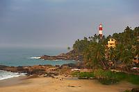Inde, Etat du Kerala, Kovalam, la plage // India, Kerala state, Kovalam, beach
