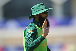 June 28, 2019 - Chester Le Street, County Durham, United Kingdom - Hashim Amla of South Africa  during the ICC Cricket World Cup 2019 match between Sri Lanka and South Africa at Emirates Riverside, Chester le Street on Friday 28th June 2019. (Credit Image: © Mi News/NurPhoto via ZUMA Press)