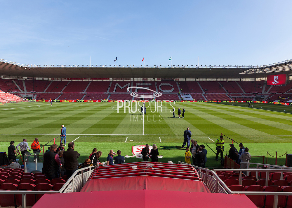 General view of the ground before the Sky Bet Championship match between Middlesbrough and Leeds United at the Riverside Stadium, Middlesbrough, England on 27 September 2015. Photo by George Ledger.