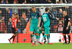 Tottenham Hotspur's Harry Kane appears dejected after the final whistle