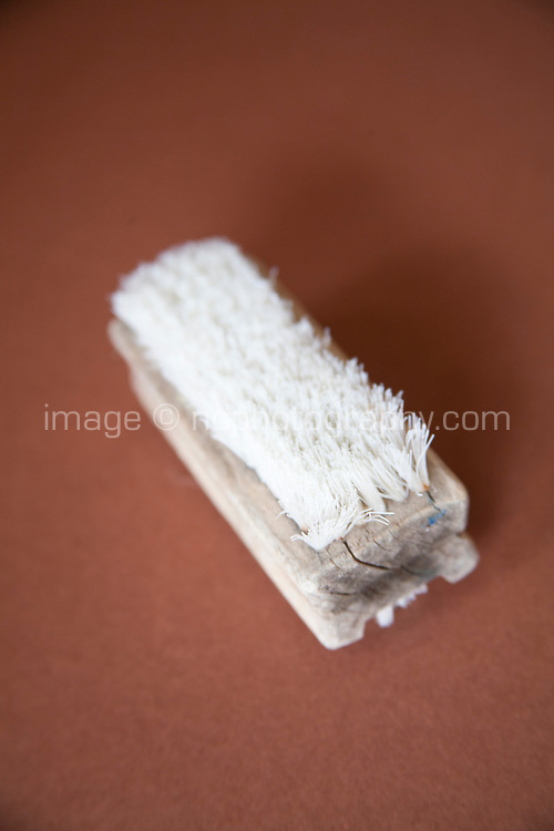 Old wooden nail brush