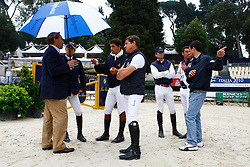 Fuchs Marcus (SUI) chef d'Equipe team Italy with Italien team<br /> Meydan FEI Nations Cup - Rome 2010<br /> © Hippofoto - Stefano Grasso