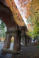 The Lake Biwa Aquaduct, completed after arduous labor in the Meiji Period, serves as a symbol of early modernization in Japan during that period and has supplied Kyoto with water for hundreds of years, saving the city from catastrophe on several occasions, notably fires.