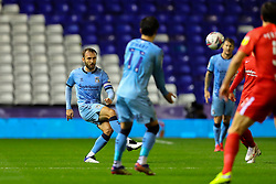 Liam Kelly of Coventry City pumps the ball upfield - Mandatory by-line: Nick Browning/JMP - 20/11/2020 - FOOTBALL - St Andrews - Birmingham, England - Coventry City v Birmingham City - Sky Bet Championship