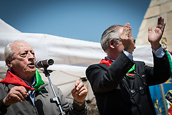 April 25, 2018 - Rome, Italy, Italy - Partisans during the celebration of 25 April for the liberation of the Nazzi-Fascist occupation of the Second World War  on April 25, 2018 in Rome, Italy  (Credit Image: © Andrea Ronchini/NurPhoto via ZUMA Press)