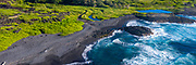 Ninole Cove, Black Sand Beach, Punaluu, Big Island of Hawaii, Hawaii