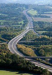 ©London News pictures...  .Generic file picture of the M23 motorway near Junction 7 with the M25 in Surrey.