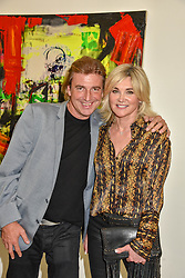 Anthea Turner and Mark Armstrong at the START Art Fair - Preview Evening held at the Saatchi Gallery, Duke of York's HQ, King's Road, London on 25th September 2019.