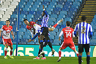 Jake Cooper, Dominic Iorfa  during the EFL Sky Bet Championship match between Sheffield Wednesday and Millwall at Hillsborough, Sheffield, England on 7 November 2020.