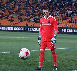 Orlando Pirates goalkeeper Wyne Sandilands in a match between Orlando Pirates  and Cape Town City at  Fnb Stadium on Tuesday September 19, 2017.