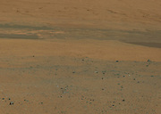 This color image from NASA's Curiosity rover looks south of the rover's landing site on Mars towards Mount Sharp.