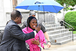 June 5, 2017 - Norristown, Pennsylvania, U.S - Actress KESHIA KNIGHT PULLIAM leaving the court house in Montgomery county after attending the Bill Cosby sexual assault trial (Credit Image: © Ricky Fitchett via ZUMA Wire)