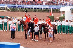 Team Netherlands, Raymakers Piet, Tops Jan, Lansink Jos<br /> Olympic Games Barcelona 1992<br /> © Hippo Foto - Dirk Caremans<br /> 20/04/2021