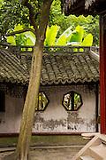 Decorative traditional wall in Yu Yuan Gardens Shanghai, China