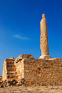 Column from the temple of Apollo, the Greek archaeological site of Ancient Aegina, Kolna, Greek Saronic Islands .<br /> <br /> If you prefer to buy from our ALAMY PHOTO LIBRARY  Collection visit : https://www.alamy.com/portfolio/paul-williams-funkystock/aegina-greece.html <br /> <br /> Visit our GREECE PHOTO COLLECTIONS for more photos to download or buy as wall art prints https://funkystock.photoshelter.com/gallery-collection/Pictures-Images-of-Greece-Photos-of-Greek-Historic-Landmark-Sites/C0000w6e8OkknEb8
