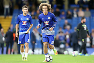 David Luiz of Chelsea during pre match warm up. Premier league match, Chelsea v Liverpool at Stamford Bridge in London on Friday 16th September 2016.<br /> pic by John Patrick Fletcher, Andrew Orchard sports photography.