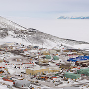 How to describe McMurdo Station. It's the largest station in Antarctica by far, a sprawling place, functional and utilitarian, a work in progress since its beginnings before the 1957-1958 IGY. And it has character. As a photographer I'm drawn to the older structures, the early buildings housing Cosray and building 137, the quonset huts, and others like the BFC, FEMC shops and Paint Barn. These places have character, part of it is architectural, and part is how these utilitarian shells have been adapted into unique living and work spaces by the people who use them.