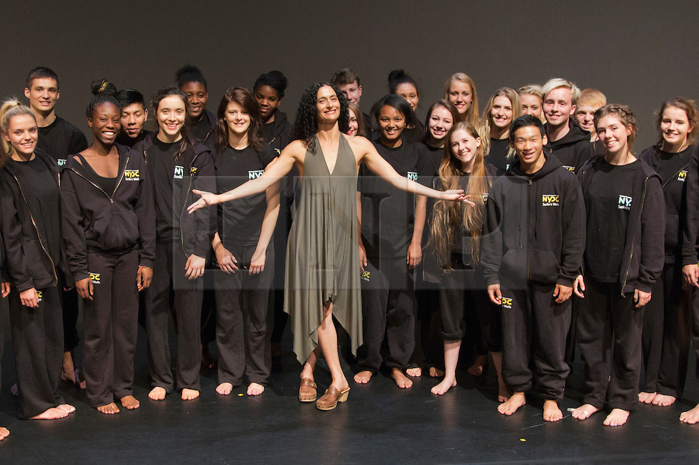 © Licensed to London News Pictures. 2 September 2013. London, England. Picture: Yasmin Vardimon with members of the NYDC. Akram Khan takes over from Jasmin Vardimon as the next guest artistic director the National Youth Dance Company (NYDC). Photo credit: Bettina Strenske/LNP