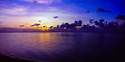 Tropical sunset, Cook Islands, South Pacific,