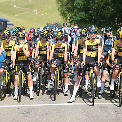 WIJSTER (NED) June 19: <br /> CYCLING <br /> Dutch Nationals Road WOMEN up and around the Col du VAM<br /> Team Jumbo Visma ready to rumble