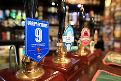 6th January 2018 - FA Cup - 3rd Round - Fleetwood Town v Leicester City - A local beer at the Strawberry Gardens pub is renamed 'Vardy Returns' ahead of the return of former Fleetwood striker Jamie Vardy of Leicester - Photo: Simon Stacpoole / Offside.