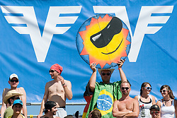 Fan with sign at A1 Beach Volleyball Grand Slam tournament of Swatch FIVB World Tour 2010, final, on July 31, 2010 in Klagenfurt, Austria. (Photo by Matic Klansek Velej / Sportida)