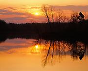 Sunrise over Lake Bailey, Petit Jean State Park, Arkansas.