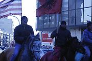 "Kosovo, Pristina, str. ""Qafa""<br /> Sunday, February 17, 2008<br /> Kosovo people celebration, before, during and after Declaration of Kosovo Independent"