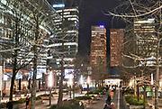 Nederland, Amsterdam, 16-1-2020  Beeld van de zuidas ter hoogte van station Zuid en WTC, world trade center, zuidplein met het abn amro hoofdkantoor, gebouw, vinoly,ito, symfonie,gustav mahlerplein, station zuidoost.  Foto: Flip Franssen