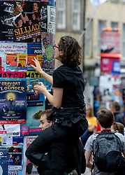 Edinburgh puts the final preparations in place for the start of the 2019 Edinburgh Festival Fringe, which starts tomorrow (Friday)<br /> <br /> © Dave Johnston / EEm