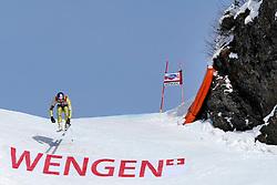 19.01.2013, Lauberhornabfahrt, Wengen, SUI, FIS Weltcup Ski Alpin, Abfahrt, Herren, im Bild Aksel Lund Svindal (NOR) // in action during mens downhillrace of FIS Ski Alpine World Cup at the Lauberhorn downhill course, Wengen, Switzerland on 2013/01/19. EXPA Pictures © 2013, PhotoCredit: EXPA/ Freshfocus/ Christian Pfander..***** ATTENTION - for AUT, SLO, CRO, SRB, BIH only *****