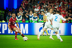 during the UEFA Champions League final football match between Liverpool and Real Madrid at the Olympic Stadium in Kiev, Ukraine on May 26, 2018.Photo by Sandi Fiser / Sportida