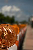 Warning Light in Street