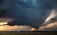 The final two tornadoes of a long, multi-tornado storm near Dodge City, Kansas, May 24, 2016.