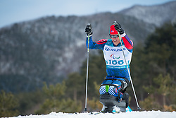 March 17, 2018 - Pyeongchang, South Korea - Sean Halsted of the US during the 7.5km Cross Country Sitting event Saturday, March 17, 2018 at the Alpensia Biathlon Center at the Pyeongchang Winter Paralympic Games. Photo by Mark Reis (Credit Image: © Mark Reis via ZUMA Wire)