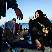 Syrian refugees arrive by raft to Lesvos Island in Greece from Turkey, in order to make their way to mainland Europe. Some estimates say as many as 9,000 have been arriving from Turkey a day.
