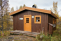Pieljekaisestugan mountain hut along Kungsleden Trail, Lapland, Sweden