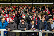Woking home fans before the The FA Cup 3rd round match between Woking and Watford at the Kingfield Stadium, Woking, United Kingdom on 6 January 2019.