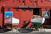 Boat builder, Rockport Marine, Rockport, Maine, ME, USA