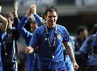 Photo: Rich Eaton.<br /> <br /> Chelsea v Arsenal. Carling Cup Final. 25/02/2007. Frank Lampard of Chelsea celebrates his teams 2-1 victory