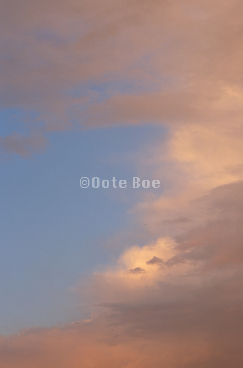 Sky with orange and purple clouds