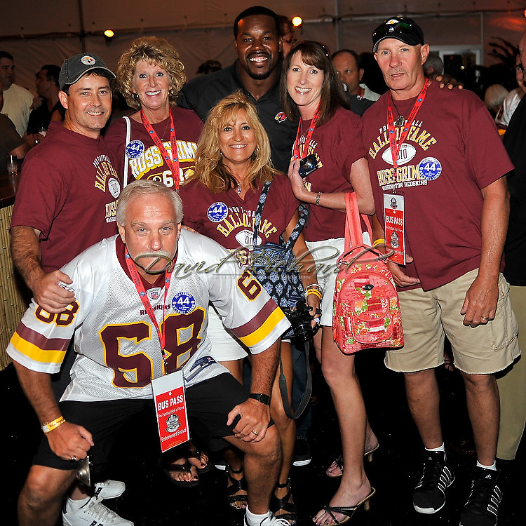"""Former Washington Redskins offensive lineman Russ Grimm was enshrined into the Pro Football Hall of Fame in Canton, Ohio, on August 7, 2010 at Fawcett Stadium. Grimm, a member of the 1980s offensive line called """"The Hogs"""", went into the Hall with Rickey Jackson, Dick LeBeau, Floyd Little, John Randle, Jerry Rice and Emmitt Smith. Photos © David Richard."""